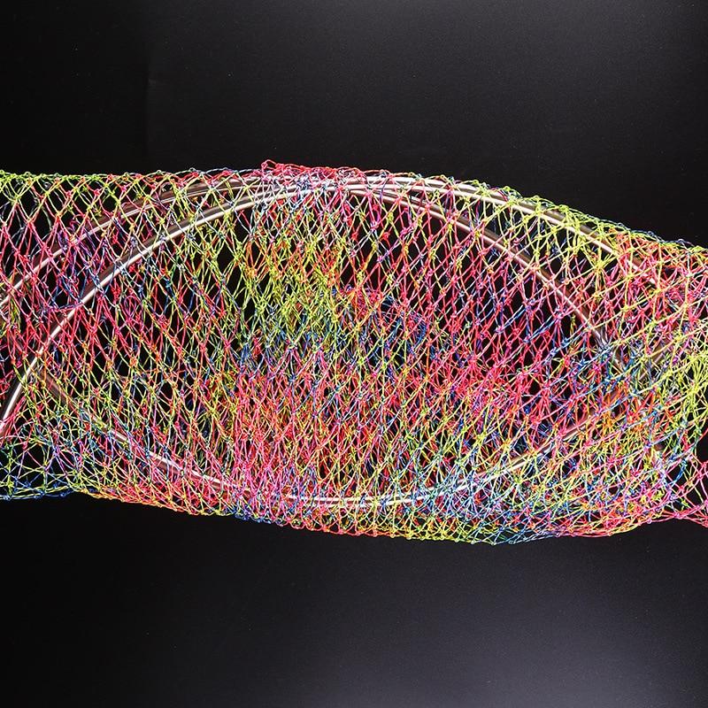 Copy String Bag Stainless Steel Pheasant Dyneema Foldable Landing Net Head Real Deepened Double-Line Sturgeon Big Things Dip Net