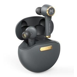 Наушники Melofun PowerPods с глубокими басами, Bluetooth, TWS, сенсорное управление, беспроводные наушники с микрофоном