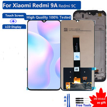 Original For Xiaomi Redmi 9A Touch Screen LCD Display 6.53'' Digitizer Assembly Repair Phone Parts Replacement100% Tested