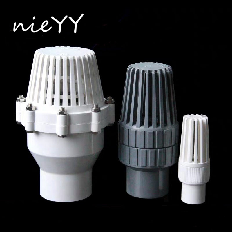 NIEYY 32mm 40mm 50mm PVC Water Check Valve Non return Valve Water Filter Valve Piston Valve Water Shutoff Valve Parts|Garden Water Connectors| |  - title=
