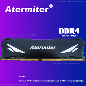 Image 5 - Atermiter X99 D4 اللوحة الأم مع Xeon E5 1630 V3 LGA2011 3 وحدة المعالجة المركزية 1 قطعة X 16 جيجابايت = 16 جيجابايت 2400 ميجا هرتز REG ECC RECC DDR4 الذاكرة