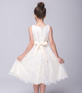Image 4 - Kids Princess Party Dress for Girls Tutu Mesh Costume Birthday Ball Gown Lace Children Bridesmaid Elegant Dress Evening Girls