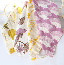 Bamboo Fiber Baby Wash Cloth Multi Functional Muslin Cloth Cotton Baby Girl Boy Infant 27cm*27cm 4 Layer 3 pieces(China)