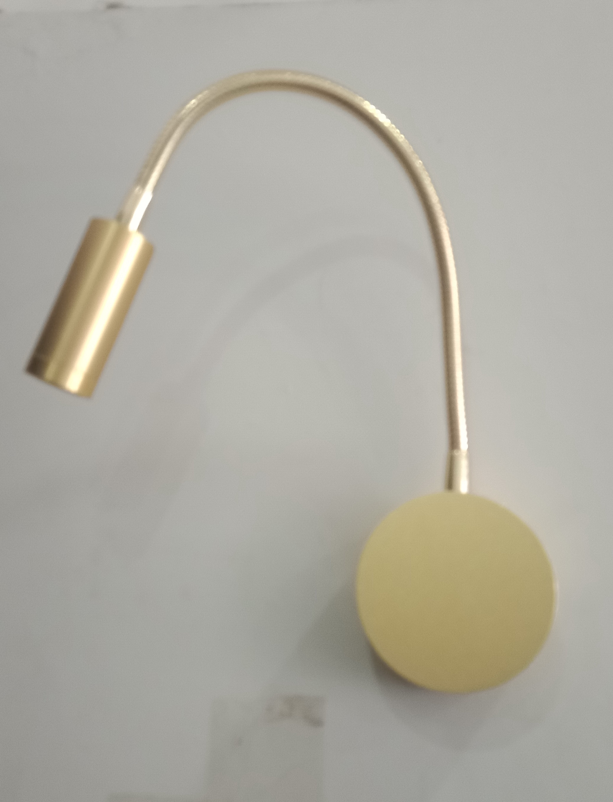 New Gold Color Bedroom Wall Lamp COB 3W Arm Wall Lamp With Switch