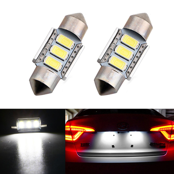 2x LED 36mm White CANbus C5W Bulbs 5630SMD Interior Lights License Plate Light For BMW E39 E36 E46 E90 E60 E30 E53 E70 image