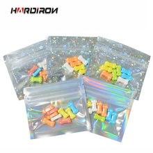 100 шт цветные плоские пакеты из алюминиевой фольги 7 5 х6 см