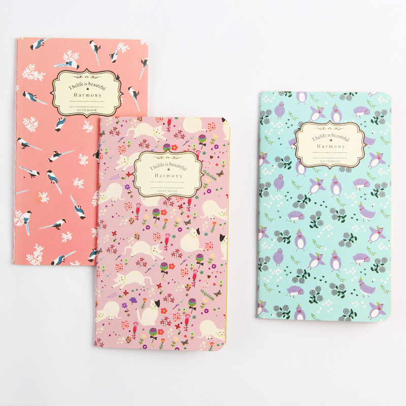 Bullet Journal Kraft Paper Notebooks Vintage Flowers Diary Sketchbook For Kids Girls School Office Supplies Novelty Stationery