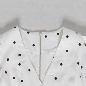 Image 5 - TWOTWINSTYLE Summer Polka Dot Dress For Women V Neck Puff Sleeve High Waist Ruffles Mini Dresses Female Fasihon Clothing 2019