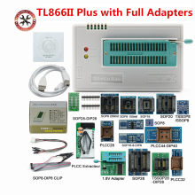 100% original mais novo tl866ii plus programador universal de alta velocidade com adaptadores completos + spi clipe de teste pic bios