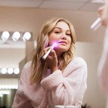 Luz azul terapia acne caneta laser facial massageador tratamento suave cicatriz rugas dispositivo de remoção da acne