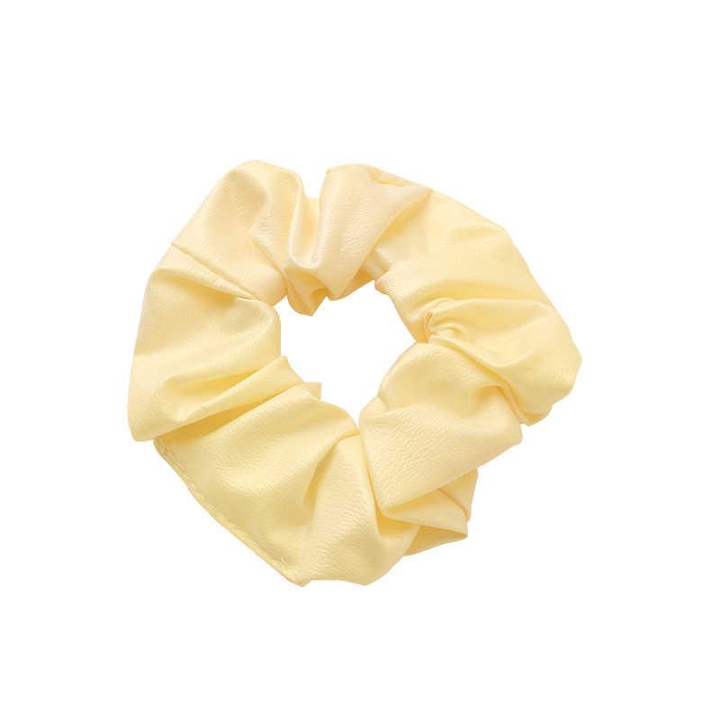 חדש עיצוב דמוי עור אלסטי שיער להקות גומיית Headwear המוצק PU צהוב אדום שחור טבעת שיער אלסטי להקות ספורט שיער עניבת