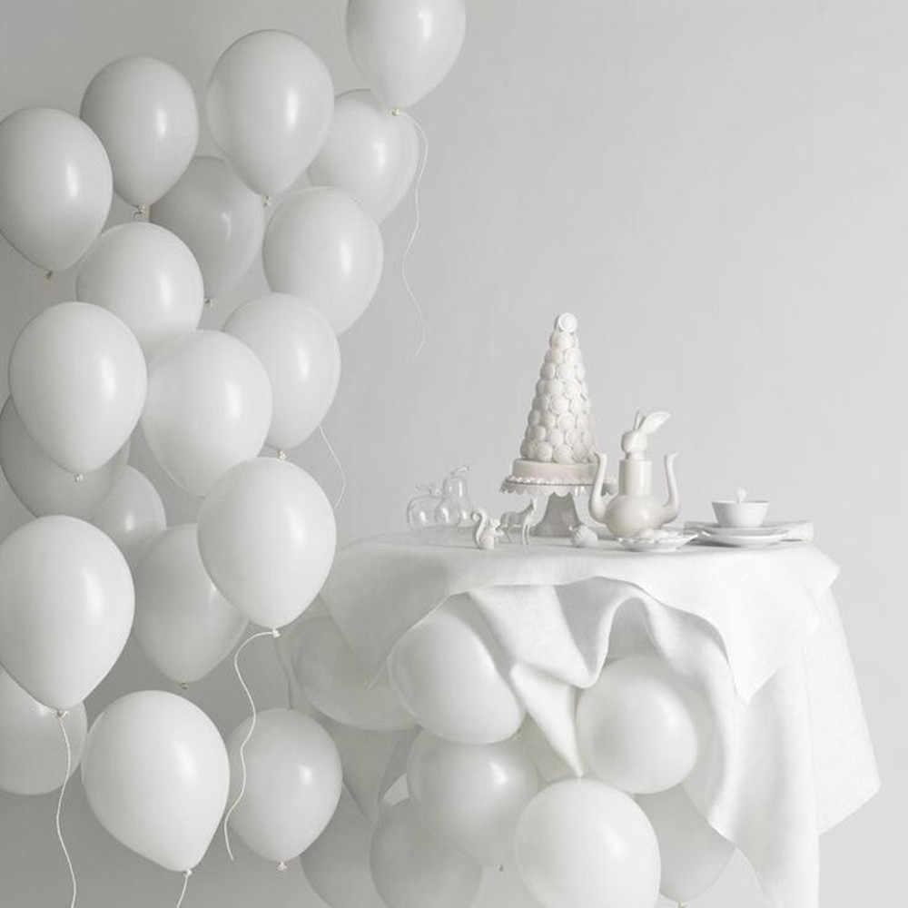 """5 """"10"""" 12 """"18"""" 24 """"36"""" Matte Putih Balon Bulat Putih Bentuk Seni ulang Tahun Pernikahan Dekorasi Pesta Helium Balon"""