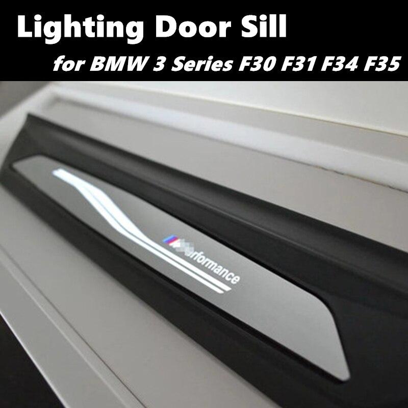 Светодиодный Добро пожаловать порога для BMW 3 серии F30 F31 F34 F35 320Li 325Li м автомобильного освещения порога порог машины двери для езды на велосип...