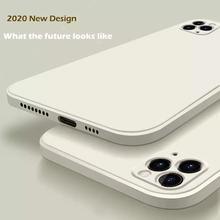 Phone-Case Liquid Silicone Case-Cover 8-Plus Original for 12 11-pro/Max/Mini/.. Candy