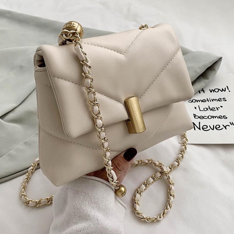 Luxury Designer Chains Crossbody Bags For Women  Fashion Diamond Lattice Shoulder Bags 2021 New Soft Women Messenger Bags Totes