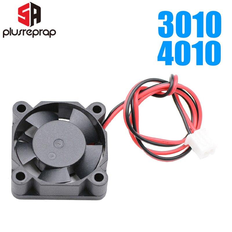 10 шт. 12 В/24 В Вентилятор охлаждения 4010 или 3010 dc 2-Провода бесщеточный охлаждающий вентилятор j-глава hotend для 3D-принтера экструдер 3d принтер экс...
