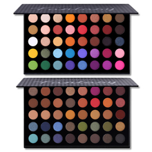 2pcs/set Changeable Fantasy 40 Colors Eye Shadow Palette Colorful Makeup Shimmer Matte Glitter Eye Shadow Pigmented Cosmetics