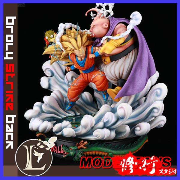 MODEL FANS instock Dragon Ball Z Son Goku VS fat Majin <font><b>gk</b></font> resin statue figure for Collection image