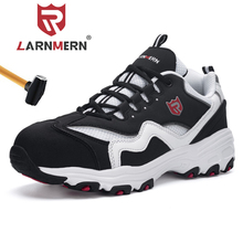 LARNMERN Steel Toe Safety Shoes For Men Breathable Lightweight Non-slip Anti-puncture Work Boots Sneaker larnmern mens steel toe safety shoes lightweight breathable anti smashing anti puncture anti static protective work boots