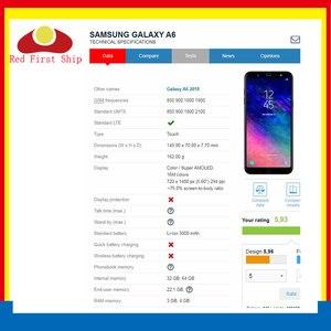 Image 2 - 10 sztuk/partia ekran dotykowy do Samsung Galaxy A6 2018 A600 panel dotykowy przednia zewnętrzna szkło obiektywu A6 + A6 Plus A605 ekran dotykowy LCD szkło