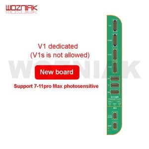 Image 5 - Jc V1S iphone 7 8 8p × 感光オリジナルカラータッチ衝撃バッテリー指紋snプログラマドットマトリックスx 11プロマックス
