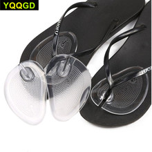 Tcare 1Pairs miękkiego silikonu klapki żel poduszki Pad ochraniacze palców na stringi sandały Flip Flop wkładki żelowe ochraniacze wkładki buty klocki