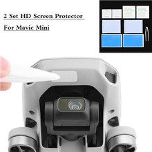 1/2 ensemble HD protecteur décran pour DJI Mavic Mini/Mini 2 anti rayures verre trempé lentille Film accessoires de protection Kits