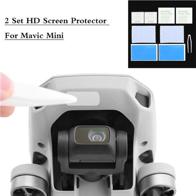 1/2 zestaw folia ochronna HD dla DJI Mavic Mini/Mini 2 Anti Scratch szkło hartowane Film ochronny zestawy akcesoriów