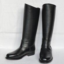 Honor Guard Soldier/Лучшие Кожаные Полусапожки из натуральной кожи для верховой езды; высокие сапоги для верховой езды; кожаные леггинсы