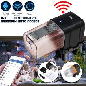 YYAQUA 175ml WIFI Programmable Automatic Fish Feeder Aquarium Tank Timer Feeder Auto Fish Food Dispenser WIFI Mobile App Control