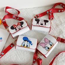 Disney Children's New Mini Shoulder Bag Cartoon Mickey Baby Girl Crossbody Bag