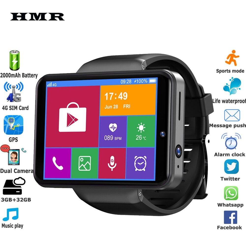 Мужские Смарт часы с большим экраном 2,4 дюйма, 4G, 2000 мАч, 2 Мп + 8 Мп, двойная камера, 3 ГБ + 32 ГБ, SIM карта, Android 7,1, GPS, видеозвонок, спортивные Смарт часы|Смарт-часы| | АлиЭкспресс