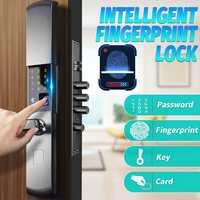 Security Electronic Smart Door Lock Fingerprint Lock APP Touch Password Keypad Card Fingerprint 5 Way Door Lock Electronic Hotel