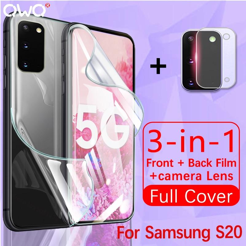 Полное покрытие для Samsung Galaxy A51 A50 S20 Plus ультра защита экрана S10E S10 Lite Гидрогелевая пленка A10 A20 A40 M21 стекло для камеры|Защитные стёкла и плёнки|   | АлиЭкспресс