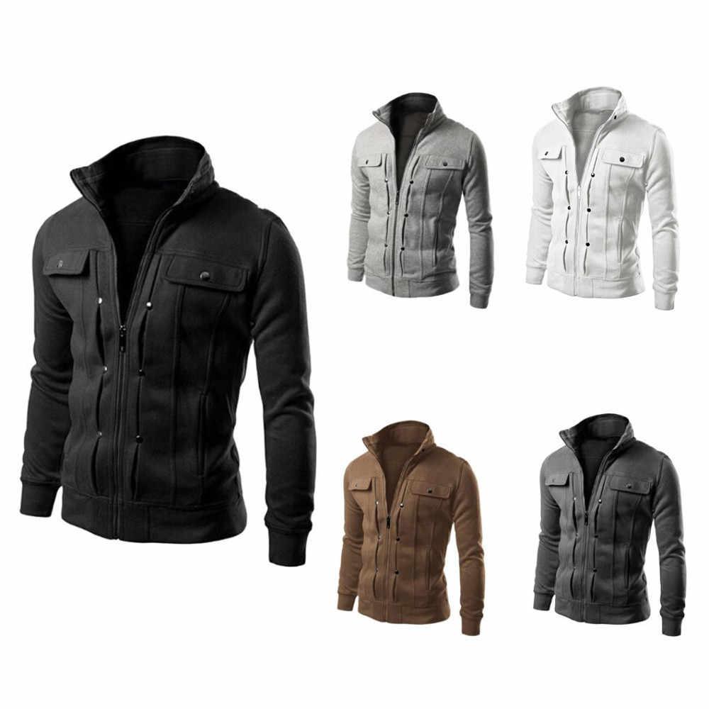 Heren Jas Winter Warm Top Fashion Mens Slim Ontworpen Revers Vest Jas Jas hoge kwaliteit Heren Overjas Blouse 2020 nieuwe