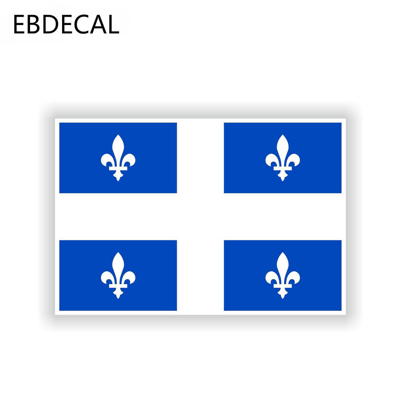 Ebdeckle креативные флаги Квебека Канада Светоотражающая оконная машина, бампер, окно, настенные переводные наклейки для чемодана, наклейки, DIY ...