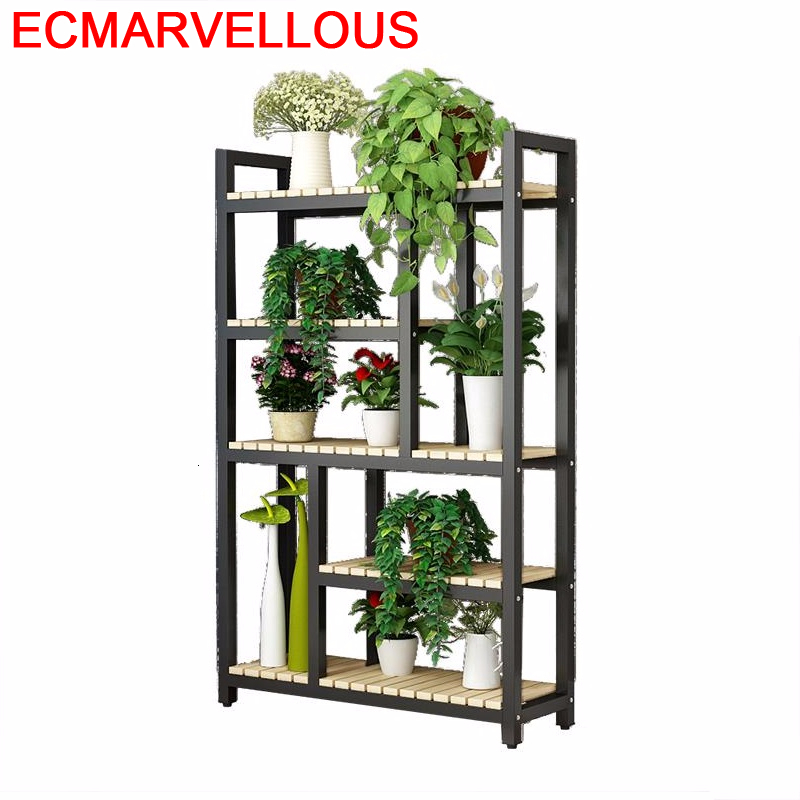 Indoor Pot Soporte Interior Living Room Rak Bunga Estanteria Para Plantas Outdoor Dekoration Balcony Flower Shelf Plant Stand
