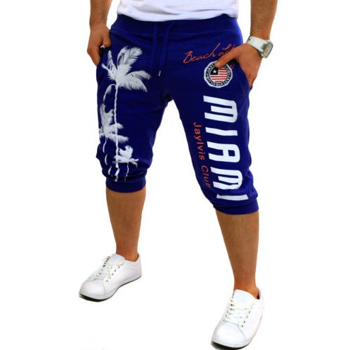 Hot Sales Trunks For Men Palm Printed Design Fashion Casual Athletic Pants Shorts