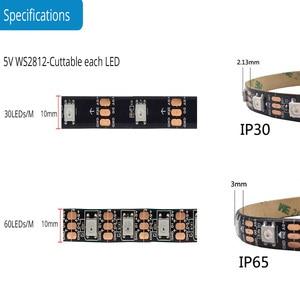 Адресная Радужная цифровая светодиодная лента для ПК, 5 В, 3 контакта, ARGB Header, ПК чехол Asus Aura Sync Gigabyte RGB Fusion MSI Mystic