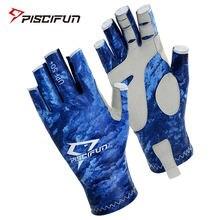 Piscifun upf50 + спортивные рыболовные перчатки дышащие летние