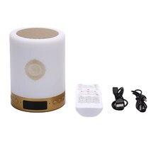 O orador muçulmano do alcorão do alcorão do diodo emissor de luz colorido do orador quente-sem fio bluetooth apoia o rádio do cartão de mp3 fm tf controle remoto