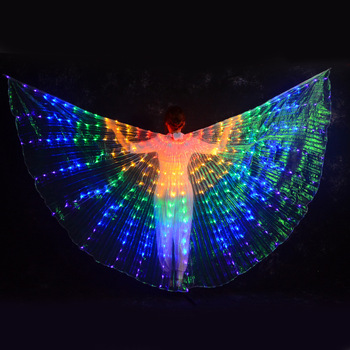 2020 New Women Led Belly Dance Wings Colorful Butterfly Wings Angel Isis Wings Butterfly Wings Stage Props фото