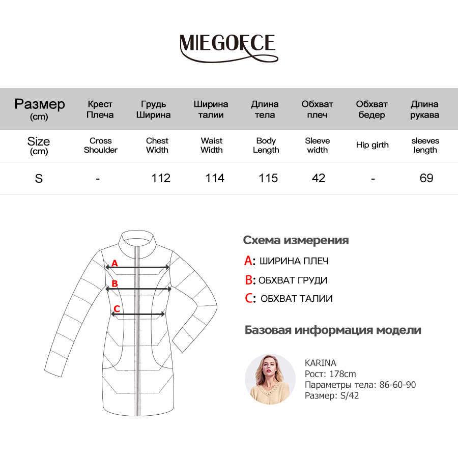 Miegofce 2019 Musim Gugur-Mantel Musim Dingin untuk Wanita Kasmir Jaket Mantel Panjang Wol Hangat Pakaian Oval Polos Musim Gugur Jaket Blazer
