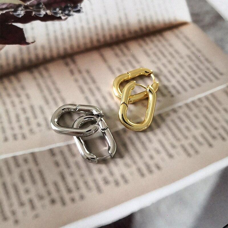 Минималистичные лучшие продажи французские золотые шикарные O серьги в форме фигурного кольца женские массивные обручи геометрические лат...