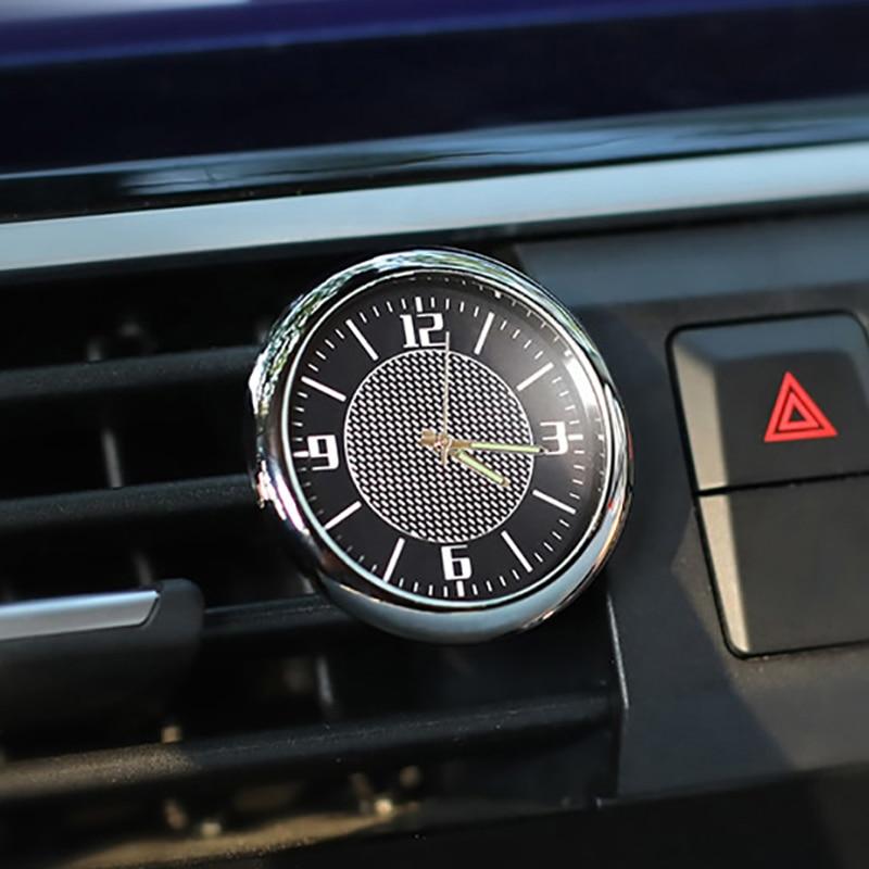 Frete grátis relógio do carro eletrônico decoração interior relógio de quartzo estilo acessórios para skoda mingrui velocidade