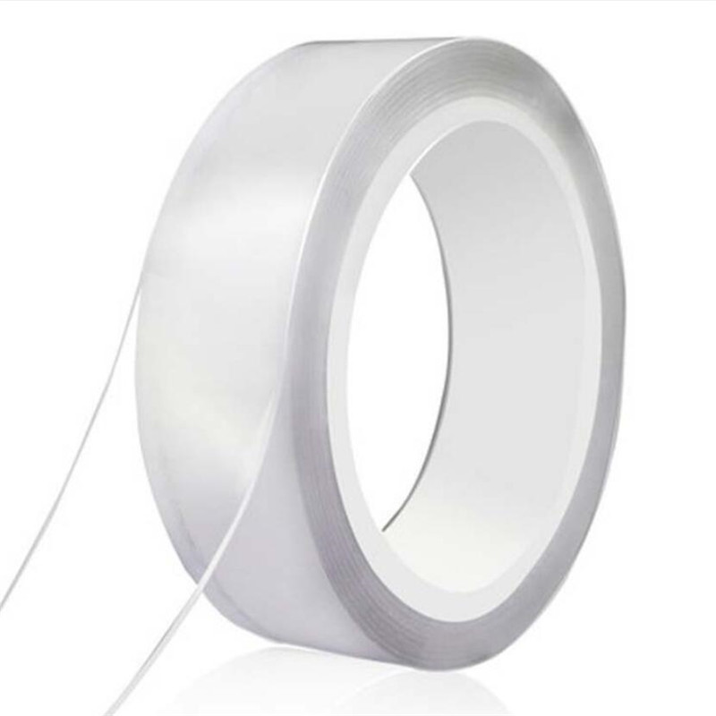 1M/2M/5M Nano Magic Tape Double Sided Tape Transparent No Trace Reusable Waterproof Adhesive Tape Cleanable Home gekkotape 2