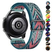 Nylon Riem Voor Samsung Horloge 3/Galaxy Actieve 2/Gear S3/Amazfit Verstelbare Elastische Horlogeband Armband Huawei gt/2/2E/Pro Band