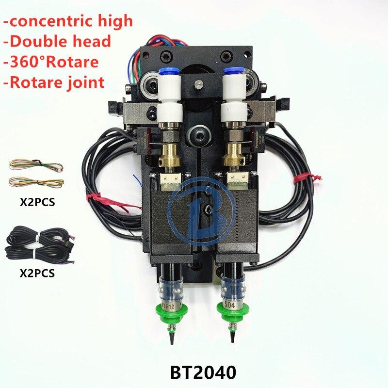 BT2040 SMT DIY mountor connector Nema8 hollow shaft stepper for pick place Double head