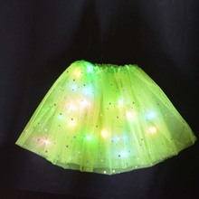 17 цветов, сексуальный светильник для девушек, женщин и девушек, светодиодный Балетная пачка для сценического танца, короткая мини-юбка, Вечерняя Одежда для танцев