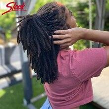 Sleek Human Hair For Dreadlocks Twist Braids Tight Afro Kinky Bulk Human Hair 100% Human Hair Extensions 20/40/60 strand/lot